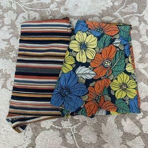 Zara Trafaluc floral and striped skorts set